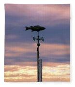 Fish Weather Vane At Sunset Fleece Blanket