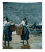 Fisher Girls By The Sea Fleece Blanket