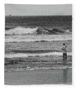 Fisherman - Costa Del Sol - El Salvador Bnw V Fleece Blanket
