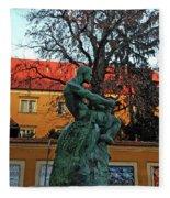 Fisherman Fight, Zagreb  Fleece Blanket