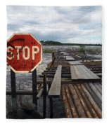 Fishermans Dock Fleece Blanket