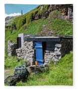 Fisherman's Hut Priest's Cove Cape Cornwall Fleece Blanket