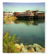 Fishermans Wharf Monterey Ca II Fleece Blanket