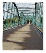 Fisheye South Washington St. Bridge Fleece Blanket