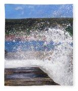 Fishing Beyond The Surf Fleece Blanket