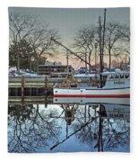 Fishing Boat At Newburyport Fleece Blanket