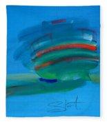 Fishing Boat Hastings Fleece Blanket