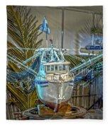 Fishing Boat Hdr 1 Fleece Blanket
