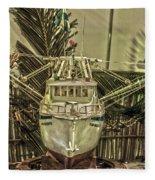 Fishing Boat Hdr 2 Fleece Blanket
