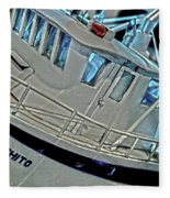 Fishing Boat Hdr Fleece Blanket