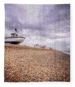 Fishing Boats At Dungeness Fleece Blanket