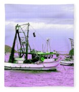 Fishing Boats At Pearl Beach 1.0 Fleece Blanket
