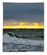 Fishing Boats On The Horizon Fleece Blanket