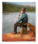 Fishing - Booze Hound 1922 Fleece Blanket