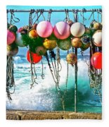 Fishing Buoys Fleece Blanket