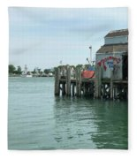 Fishing Dock Fleece Blanket