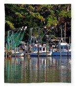 Fishing Fleet Fleece Blanket