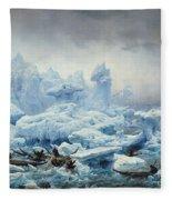 Fishing For Walrus In The Arctic Ocean Fleece Blanket
