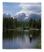 Fishing In Colorado Fleece Blanket