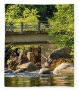 Fishing In Deer Creek Fleece Blanket