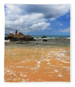 Fishing In Maui Fleece Blanket