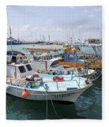 Fishing Industry In Limmasol Fleece Blanket