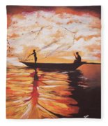 Fishing Fleece Blanket
