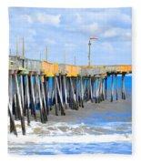 Fishing Pier 4 Fleece Blanket