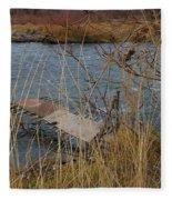 Fishing Platform  Fleece Blanket