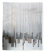 Fishing Poles Fleece Blanket