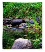 Fishing Pond Fleece Blanket