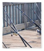 Fishing Rods Fleece Blanket