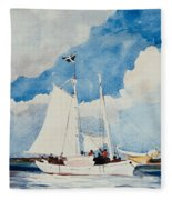 Fishing Schooner In Nassau Fleece Blanket