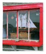 Fishing Shack Window 5998 Fleece Blanket