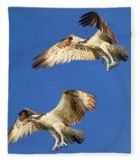 Fishing Tandem Fleece Blanket