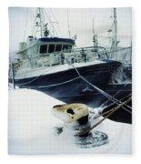 Fishing Trawler, Howth Harbour, Co Fleece Blanket