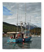 Fishing Vessel Chinak Fleece Blanket