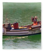Fishing Vessel  Fleece Blanket by Paul Gulliver