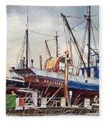 Fishing Vessel Ranger Drydock Fleece Blanket