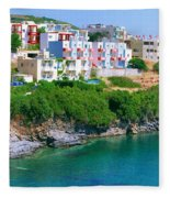 Fishing Village Bali Fleece Blanket