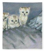 Five Kitties Fleece Blanket
