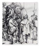 Five Lansquenets And An Oriental On Horseback 1495 Fleece Blanket