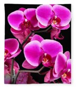 Five Orchids  Fleece Blanket