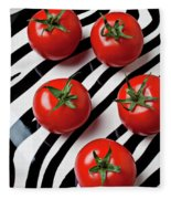 Five Tomatoes  Fleece Blanket