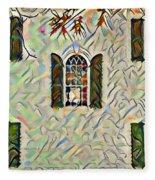 Five Windows Watercolor Fleece Blanket