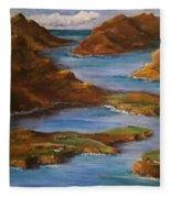Fjords Of Norwary Fleece Blanket
