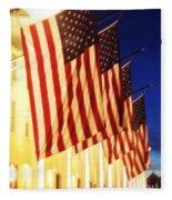 Flag Congress Hall Cape May Nj Fleece Blanket