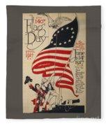 Flag Day 1917 Fleece Blanket