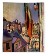 Flag Decorated Street 1906 Fleece Blanket