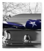Flag For The Fallen - Selective Color Fleece Blanket